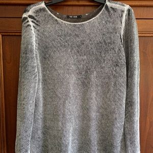 Nic + Zoe Womens Easy Days Silver Linen Pullover